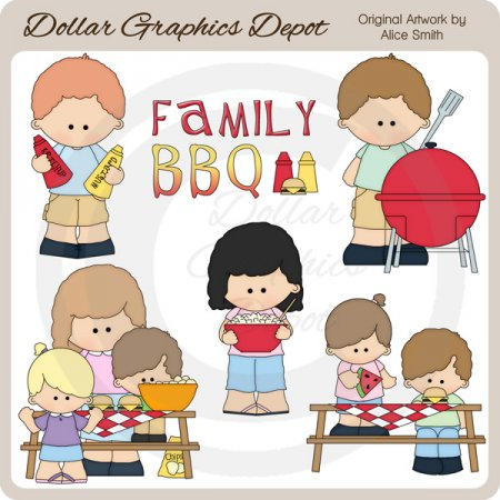 Family BBQ - Clip Art - *DGD Exclusive*
