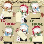Snowman Christmas Tags - Clip Art
