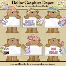 Bulletin Bears - Big Sale - Clip Art