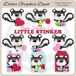 Little Stinker Valentine - Clip Art