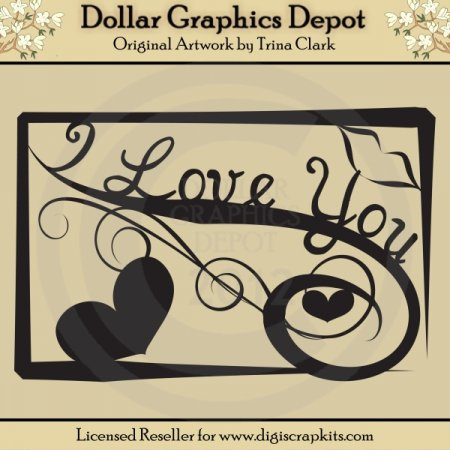I Love You - Cutting Files / Paper Piecing Patterns