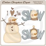 Snow Love - Clip Art