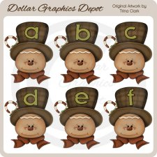 Gingerbread Alphabet - Clip Art