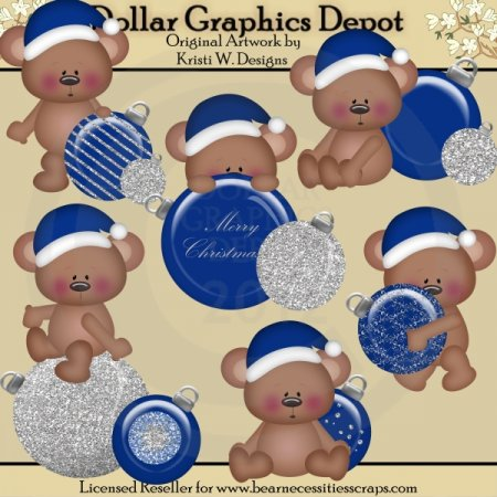 Christmas Bears 2 - Clip Art - *DGD Exclusive*