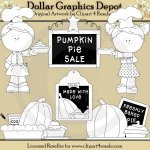 Pumpkin Pie Baker - Digital Stamps