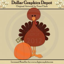 Thanksgiving Turkey 1 - Cutting Files / Paper Piecing Patterns