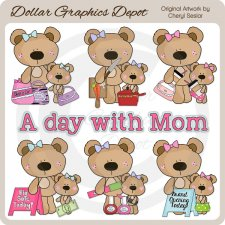 A Day With Mom - Clip Art