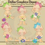 Flower Babies - Clip Art - *DGD Exclusive*