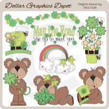 Bonnie - The Irish Bear - Clip Art