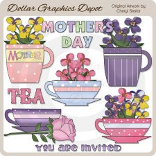 Mother's Day Tea - Clip Art