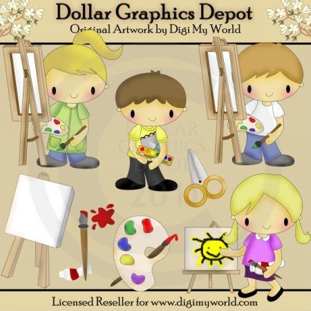 Color Your World - Clip Art