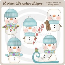 Baby Snow Boys - Clip Art