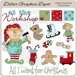 Christmas Workshop - Clip Art