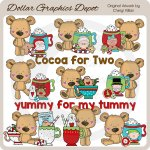 Little Bears - Christmas Cocoa - Clip Art - *DGD Exclusive*