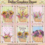 Flower Basket Cards