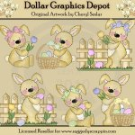 Raggedy Bunnies - Easter Daze - Clip Art