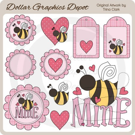 Bee Mine 1 - Clip Art
