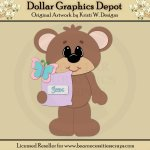 Spring Bear 6 - Cutting Files / Paper Piecing - *DGD Exclusive""