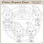 Santa's Lil' Helpers - Digital Stamps