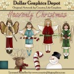 Heavenly Christmas - Clip Art