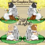 Shine Your Light Angels - Clip Art