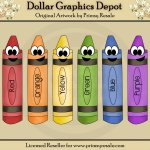 Happy Crayons - Clip Art