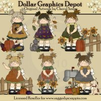 Harvest Time Toddlers - Clip Art