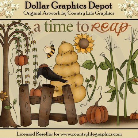A Time To Reap - Clip Art