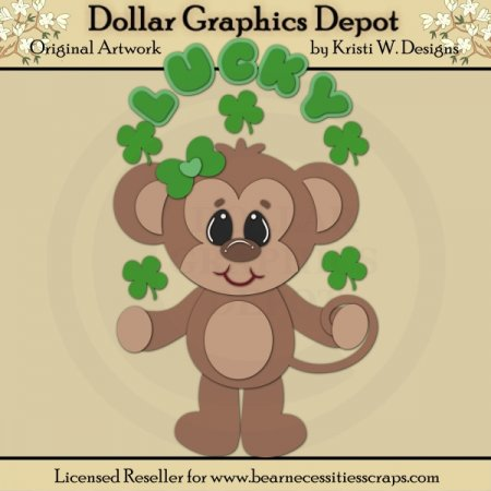 Irish Monkey 4 - Cutting Files / Paper Piecing - *DGD Exclusive*