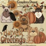 Fall Puppies - Clip Art
