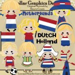 Dutch Dolls - Clip Art