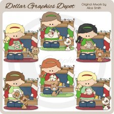 Christmas Cookie Girls 1 - Clip Art - *DGD Exclusive*