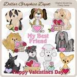 Valentine Puppies - Clip Art - *DGD Exclusive*
