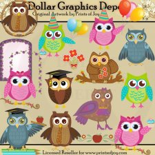 Owl Occasions - Clip Art