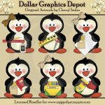 School Penguins - Clip Art - *DGD Exclusive*