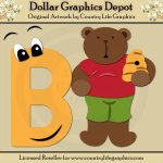 Alphabet Letter B - Cutting Files / Paper Piecing Patterns