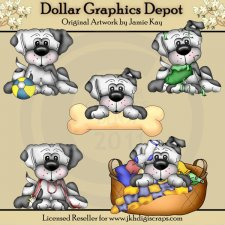 Lou La - At Play - Clip Art
