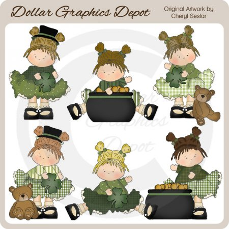 Little Irish Beauties - Clip Art