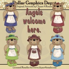 Angel Bears 2 - Clip Art - *DGD Exclusive*