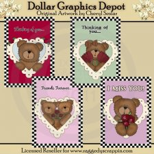 Love Bear Cards - Printables