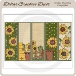 Sunflower - Bookmark Sheet