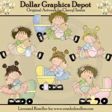 Little Momma Beauties - Clip Art