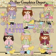 Alyssa Loves Easter - Clip Art
