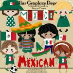 Mexican Dolls - Clip Art