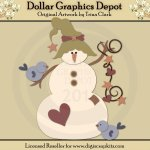 Snowman 2 - Cutting Files / Paper Piecing Patterns
