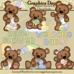 Cuddle Bears - New Baby - Clip Art