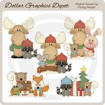 Winter Wonderland Critters 3 - Clip Art