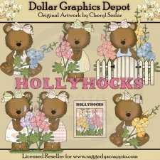 Hollyhock Bears - *DGD Exclusive*