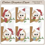 Holiday Owls - Clip Art - *DGD Exclusive*