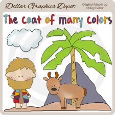 Joseph and The Coat of Many Colors - Clip Art